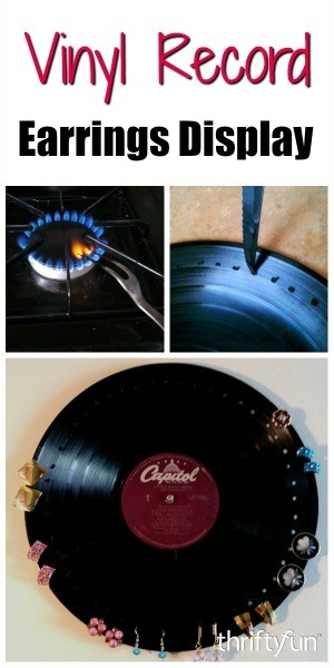 Making A Vinyl Record Earrings Display Thriftyfun