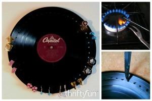Making a Vinyl Record Earrings Display