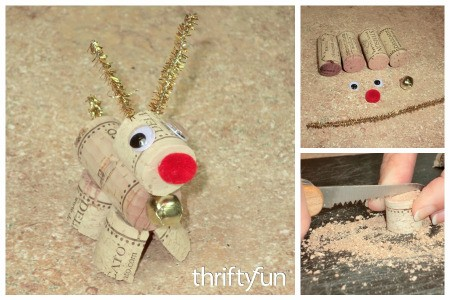 Making a Wine Cork Reindeer