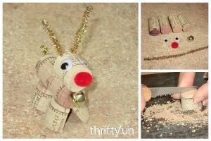 Making a Wine Cork Reindeer