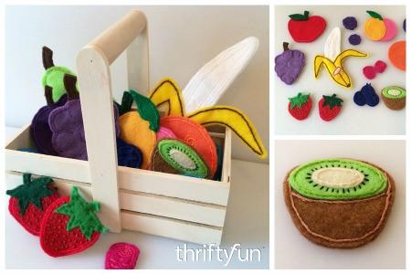 Making a Felt Fruit Basket