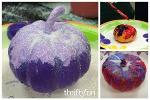Painting Mini Pumpkins