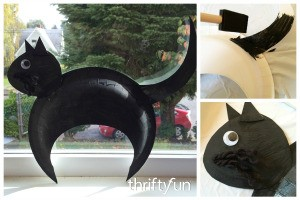Making a Paper Plate Black Cat