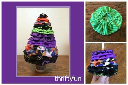 Making a Halloween Yo Yo Tree