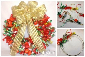 Making a Holiday Candy Wreath