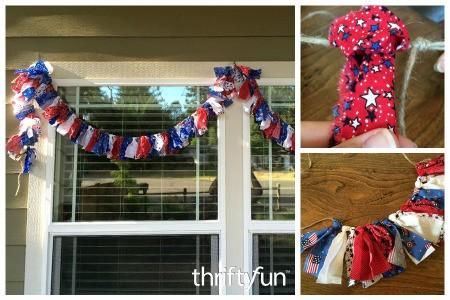 Making a 4th of July Scrap Fabric Garland