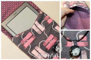 Making a Padded Kindle Pouch