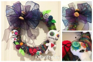 Making a VooDoo Doll Wreath