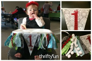 Making a Birthday Highchair Banner