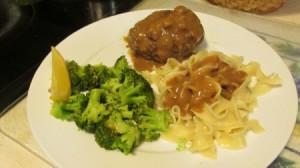 Homemade Salisbury Steak Dinner