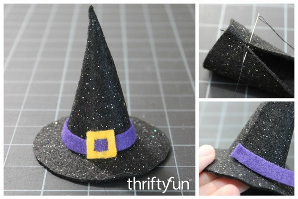 making a mini felt witch hat