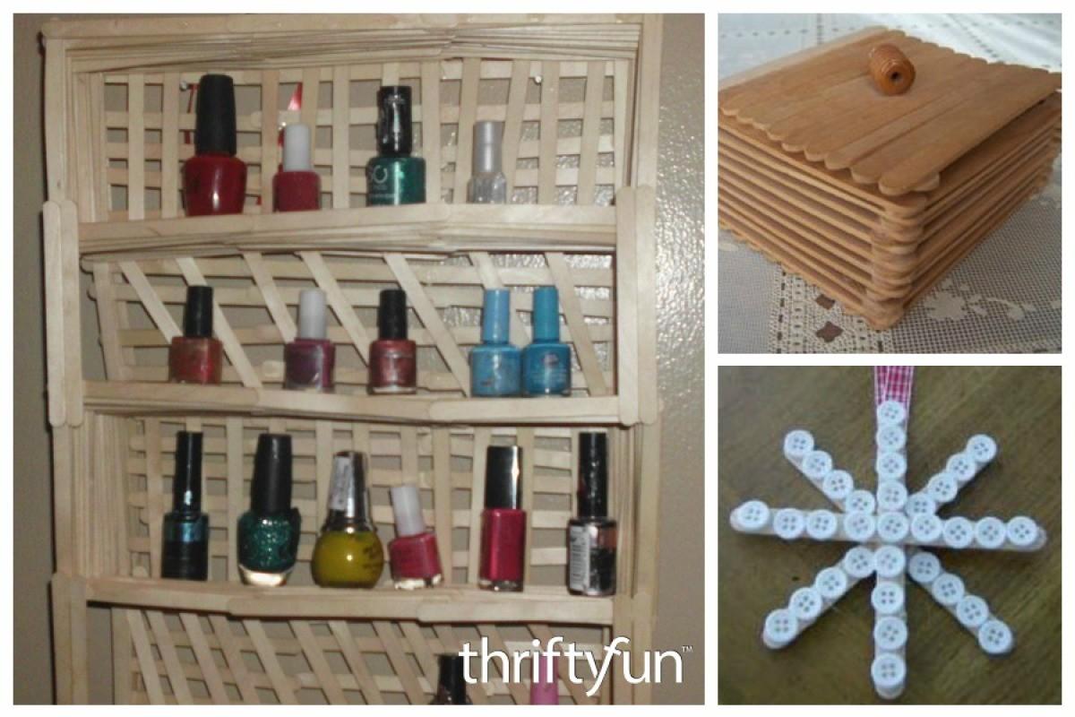 Popsicle Stick Craft Ideas Thriftyfun