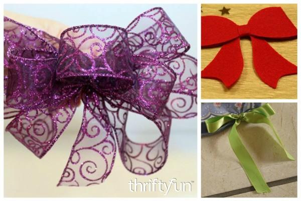 decorative bow ideas thriftyfun. Black Bedroom Furniture Sets. Home Design Ideas