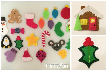 Making Ornaments for a Felt Christmas Tree