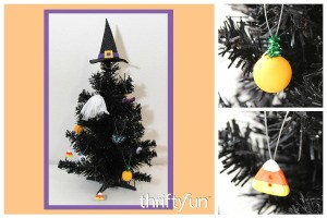 Making Mini Halloween Tree Ornaments
