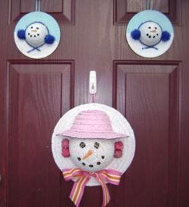 Straw Hat Snowman