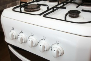 Close Up of Gas Stove/Oven Combo emphasis on dials
