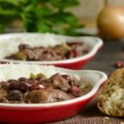 Cajun beans and rice.