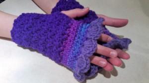 Purple Passion Crochet Fingerless Gloves