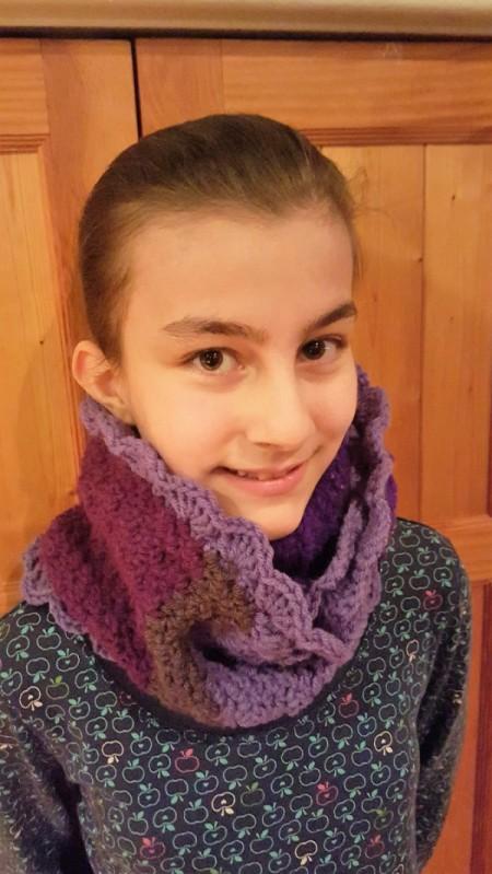 Child's Scrap Yarn Crochet Infinity Scarf
