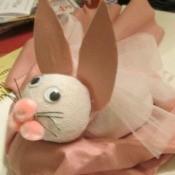 Handmade Sock Easter Bunny