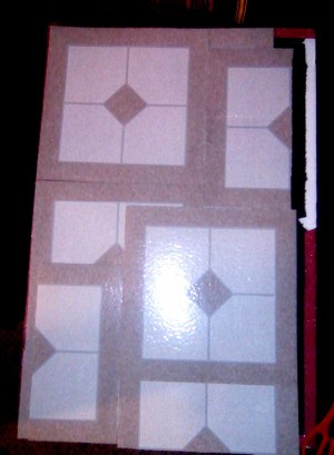 Covering at Table Top with Vinyl Floor Tiles