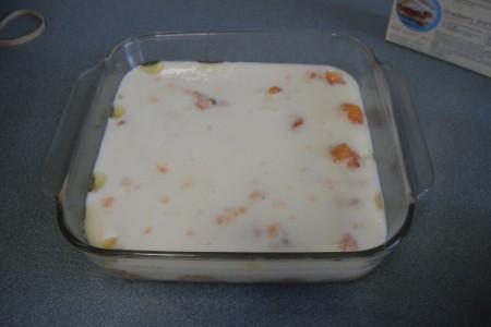 Gluten Free Cobbler from Frozen Peaches