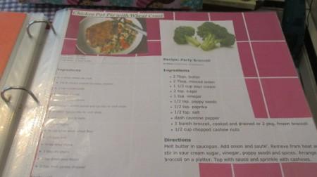 Scrapbooking a Cookbook of Recipes