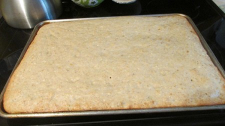 Frosted Banana Bread Squares