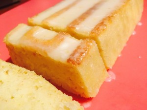 A loaf of citrus pound cake.