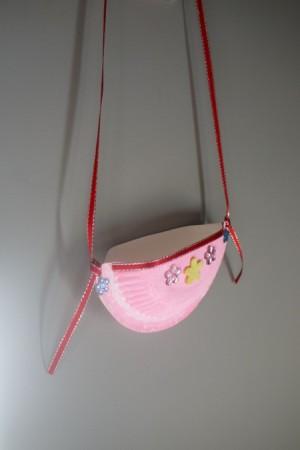 Child's Paper Plate Shoulder Bag