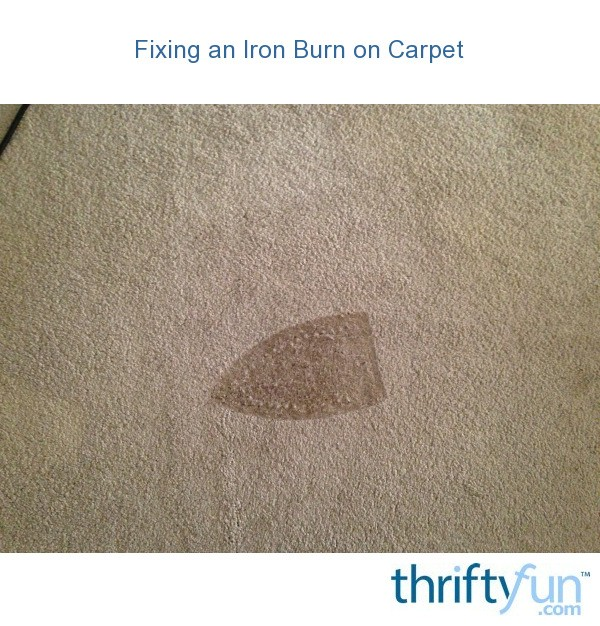 can you patch burnt carpet