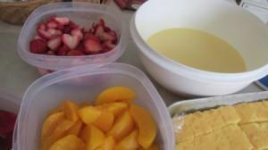 Strawberry-Peach Trifle
