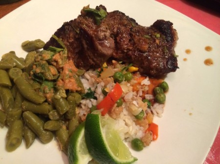 Thai Beef and Peanut Sauce Beans