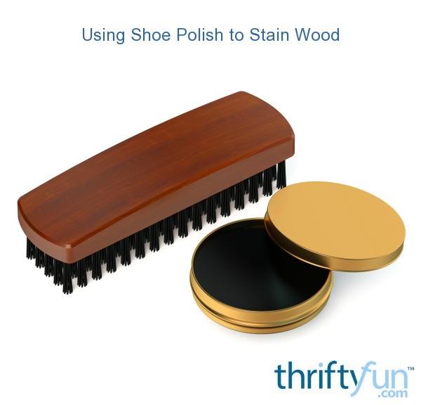 Black Shoe Polish Wood Stain