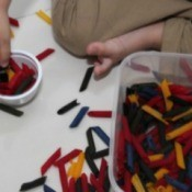 Dyed Pasta (Preschool Activity)