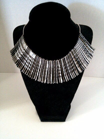 black and silver hairpin/bobby pin necklace