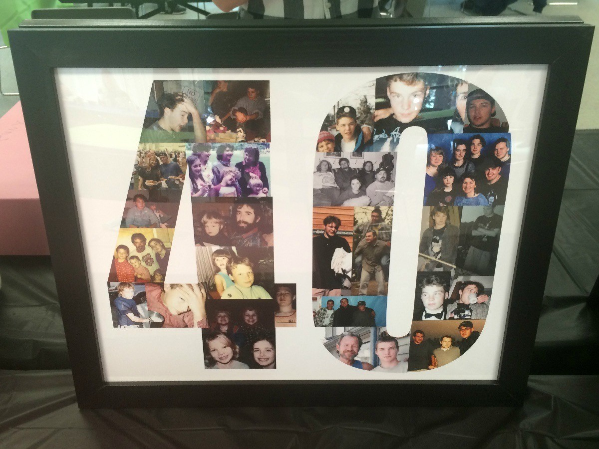 Making 40th Birthday Posters And Photos Thriftyfun