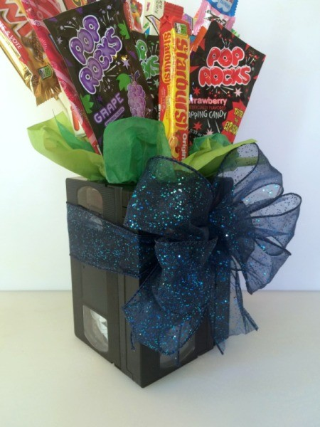 Making A Vhs Tape Candy Bouquet Thriftyfun