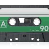 Blank Audio Cassette Tape against white background