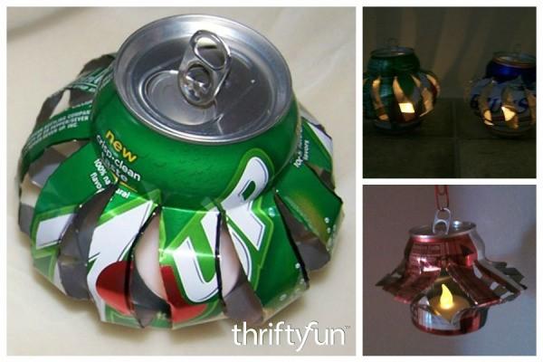 Making A Soda Can Lantern Thriftyfun