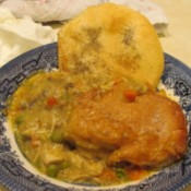 Homemade Chicken Pot Pie - plated