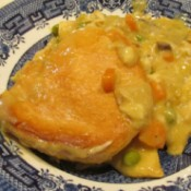 Homemade Chicken Pot Pie - finished and plated