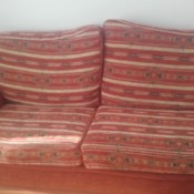 striped blanket pattern couch
