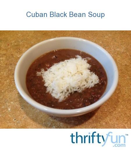 Cuban Black Bean Soup | ThriftyFun