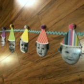 Baby Faces Birthday Banner