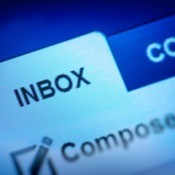 Close up image of an email programs INBOX tab