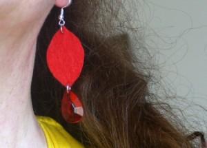 Felt Teardrop Earrings