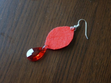 Felt Teardrop Earrings