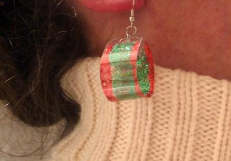 Glitzy Earrings From a Plastic Bottle